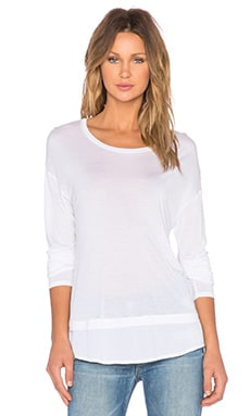 Bella Luxx Long Sleeve Layered Top in White