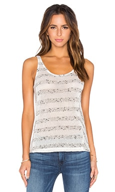 Mesh Stripe Tank in Cream & Marled