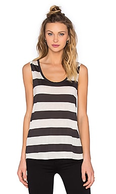 Roll Cuff Muscle Tank in Bogota Stripe