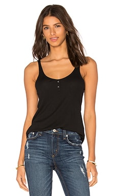 Henley Tank in Black