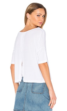 Spliced Back Tee en Blanc