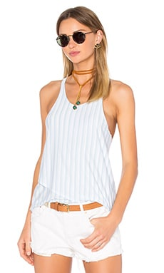 Double Layer Racer Tank in Cove Stripe
