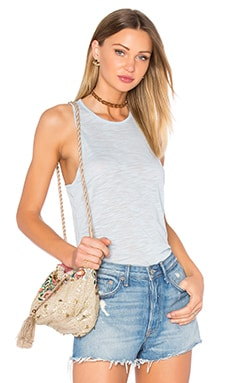 Loose Fit Racer Tank in Cove