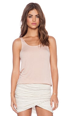 Bella Luxx Lace Side Paneled Tank in Nude