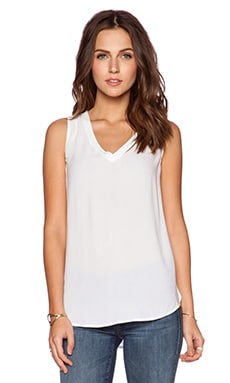 Bella Luxx Layered Back Tank in White