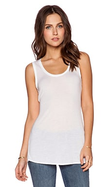 Bella Luxx Drape Back Tank in White