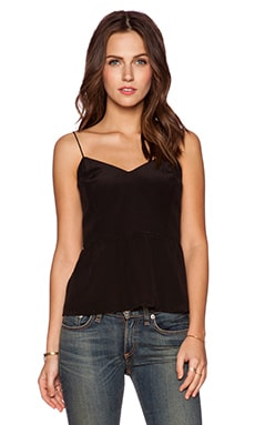 Bella Luxx Button Back Tank in Black