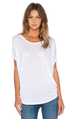 Bella Luxx Circle Drape Top in White