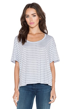 Bella Luxx Cropped Boxy Tee in Auckland Stripe