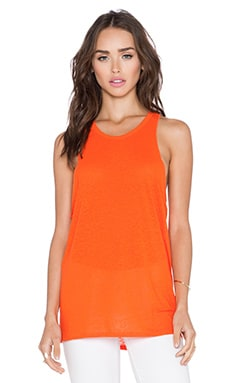 Bella Luxx Open Racerback Tank in Persimmon