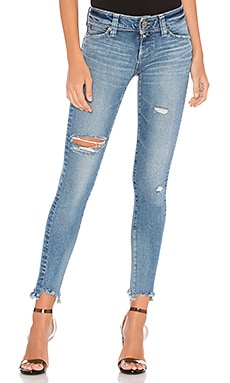 Performance Skinny Hard Distressed Brappers Denim $160