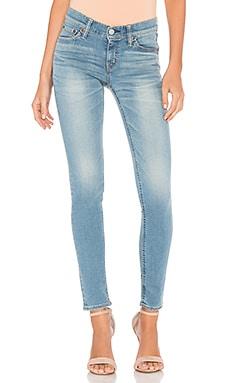 Вытертые джинсы скинни стретч - Brappers Denim