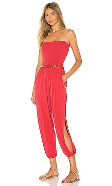 Draped Modal Jersey Strapless Harem Jumpsuit Bobi $128 BEST SELLER