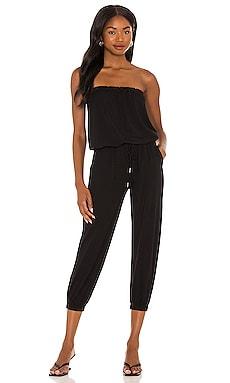 Jersey Strapless Jumpsuit Bobi $106 NEW