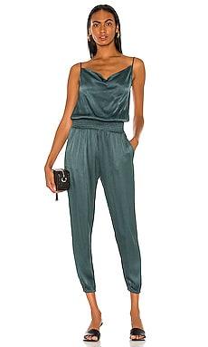 BLACK Sleek Textured Jumpsuit Bobi $141