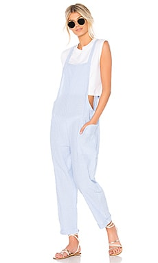Seaside Stripe Jumpsuit Bobi $70