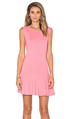 Bobi Lightweight Cashmere Terry Dropwaist Dress in Juicy Pink