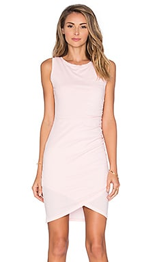 Bobi Supreme Jersey Crossover Ruched Dress in Bae