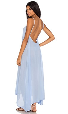 Gauze Sleeveless Scoop Back Maxi Dress in Frozen