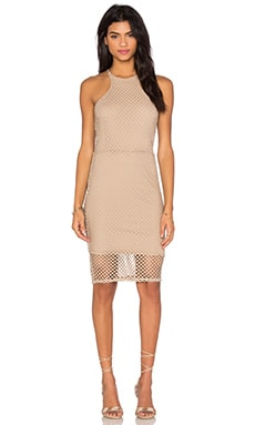 Bobi Prima Cotton Sleeveless High Neck Mini Dress in Crew