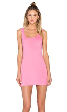 Light Weight Jersey Open Back Sleeveless Mini Dress in Sweetie Pink