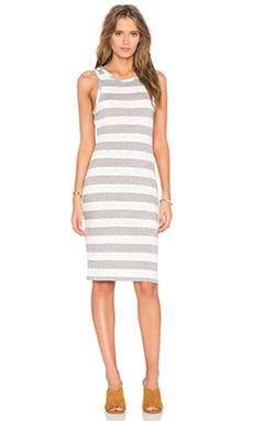 Slub Stripe Scoop Neck Tank Mini Dress