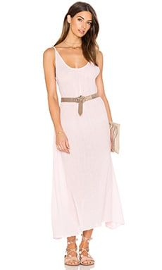 Gauze Sleeveless Scoop Back Maxi Dress in Lipgloss