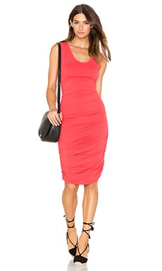 Bobi Relaxed Dress Jersey Sleeveless Scoop Neck Mini Dress in Red