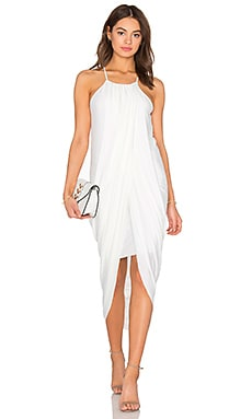 BLACK Luxe Liquid Jersey Tank Dress in White