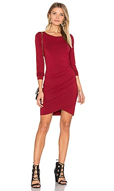 Jersey Ruched Dress en Cranberry