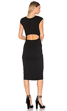 Jersey Bodycon Dress in Schwarz