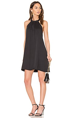 BLACK Woven Halter Dress in Black