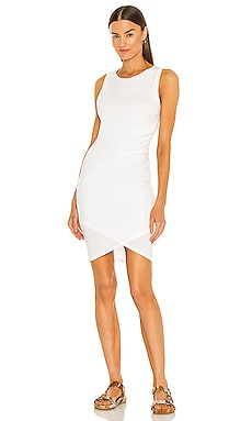 Supreme Jersey Ruched Bodycon Dress in White
