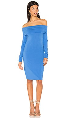 Modal Jersey Off Shoulder Mini Dress in Seaport
