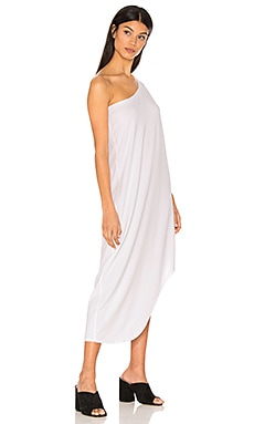 Modal Jersey One Shoulder Maxi Dress in White