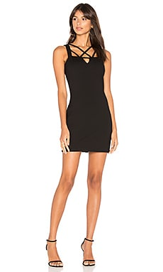 BLACK Cut Out Mini Dress in Black