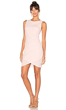 Supreme Jersey Ruched Bodycon Dress en Blushed