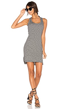 Scoop Neck Tank Dress in Schwarz & Weiß