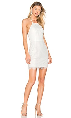 BLACK Lace Mini Dress in White