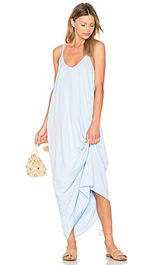 Drape Maxi Dress in Hydrangea