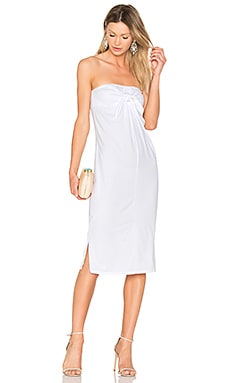 Tie Front Dress in White