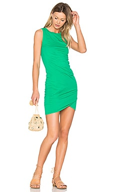 Supreme Jersey Ruched Bodycon Dress in Rainforest