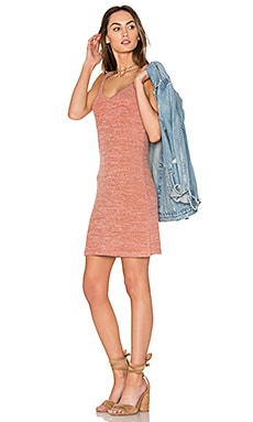 V Neck Mini Dress in Terracota