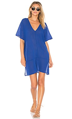 Gauze V Neck Tee Dress