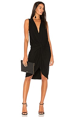BLACK Twist Front Dress