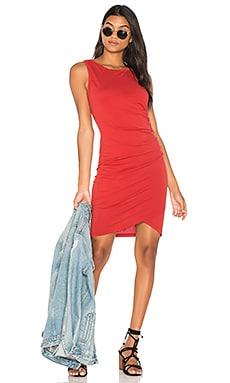Купить Облегающее платье из мягкой джерси с рюшами - Bobi красного цвета