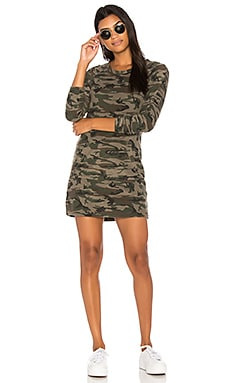 Textured Camo Sweatshirt Dress