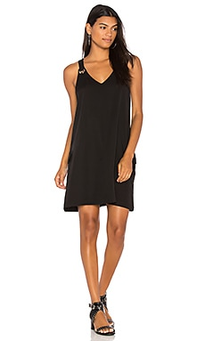 BLACK Grommet Tank Dress