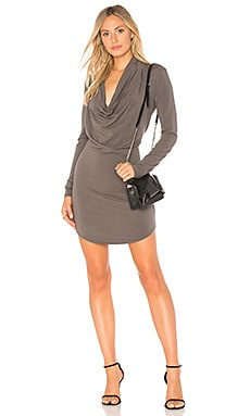 Draped Jersey T Shirt Dress