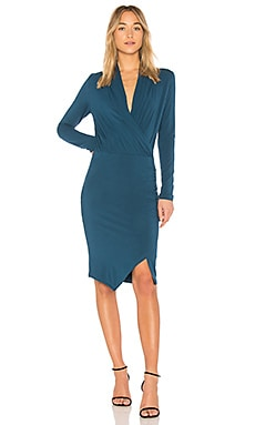BLACK Jersey Wrap Dress Bobi $83